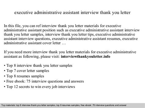 Thank You Letter For For Administrative Assistant Position Executive Administrative Assistant