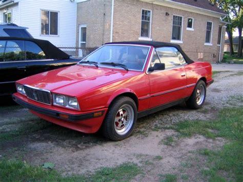 1986 Maserati Biturbo by 1986 Maserati Biturbo Spyder Convertible Low No