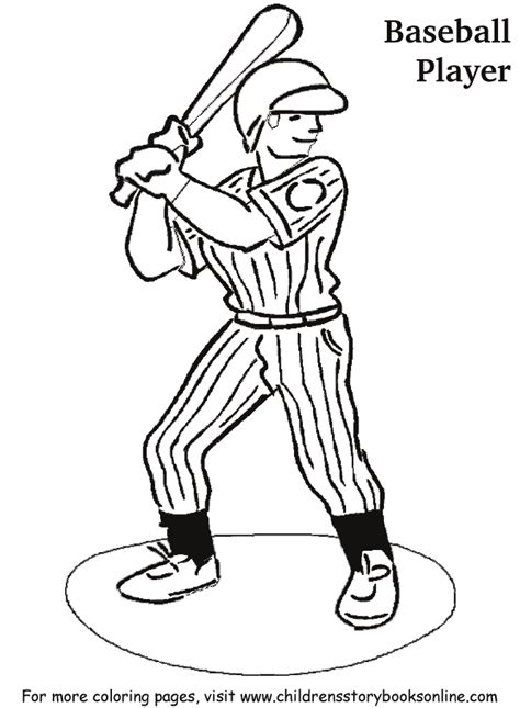 Baseball Player Coloring Page Az Coloring Pages Baseball Player Coloring Pages