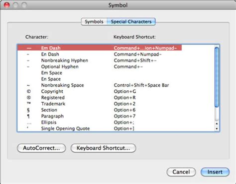 section sign on mac inserting symbols and special characters in office 2011