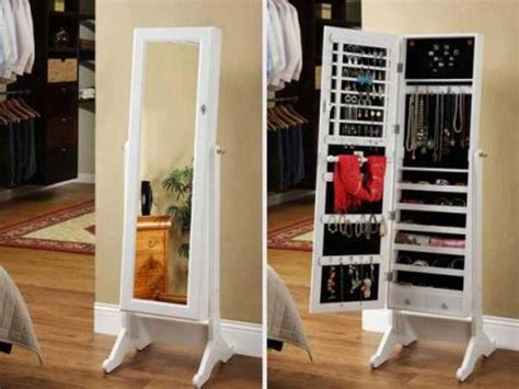 stylish collection jewelry armoire cheval mirror home