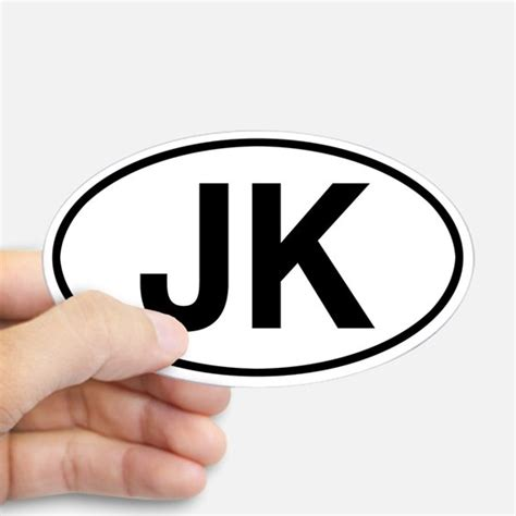 jeep jk sticker jeeps bumper stickers cafepress