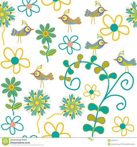 wallpaper cartoon vetor cute birds cartoon wallpaper vector seamless pattern with