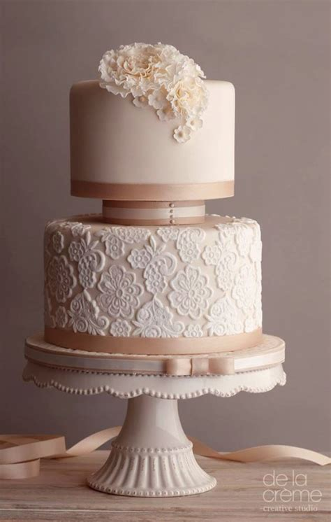 Best 25 One Tier Cake Elegant 2 Tier Wedding Cakes Doulacindy Com Doulacindy Com