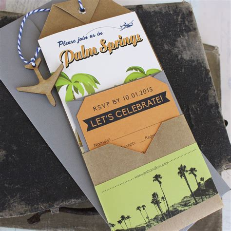 Travel Brochure Wedding Invitation travel brochure wedding invitation palm springs ca
