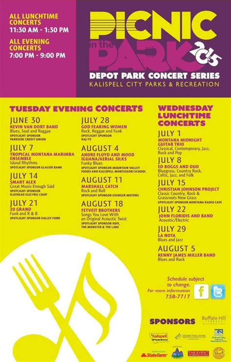 picnic in the park lunchtime concerts 07 22 2015 kalispell