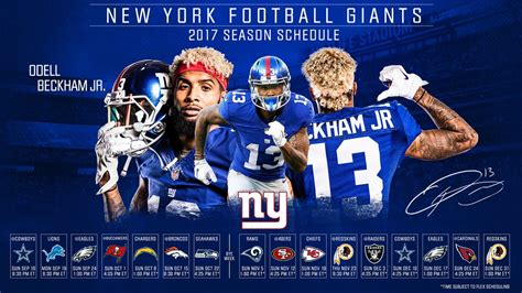 ny giants table l ny giants schedule