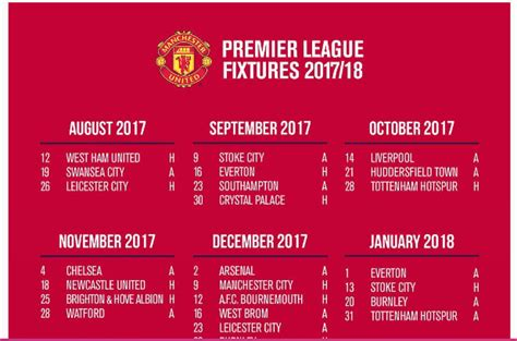 epl arsenal fixtures epl kick off chelsea arsenal manchester united