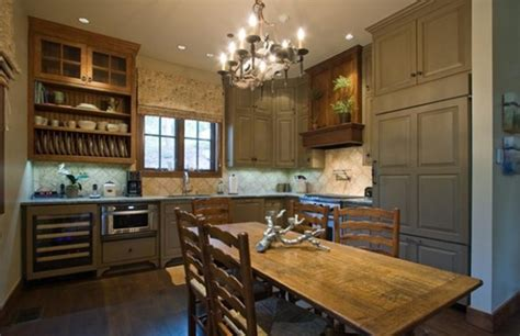 Mixed Wood Kitchen Cabinets 20 Country Style Kitchen Design Ideas Style Motivation