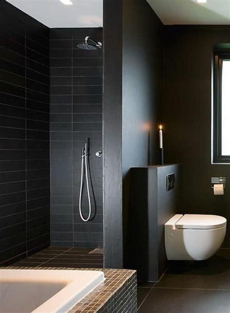 idee decoration salle de bain faience noire salle de