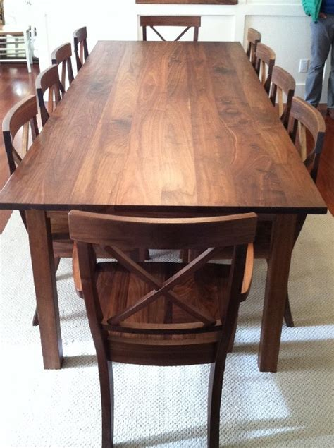 walnut dining room table walnut dining room table home decorations idea