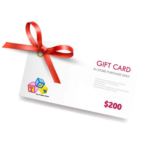 200 Gift Card - 200 gift card tj s the kiddies store in store gift card