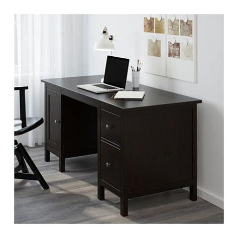 ikea hemnes scrivania hemnes bureau brun noir ikea