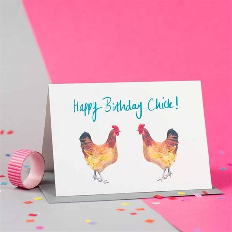 Chicken Birthday Card Happy Birthday Chick Chicken Birthday Card By Jenny