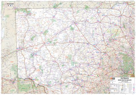map of new south wales wegenkaart landkaart outback new south wales hema maps