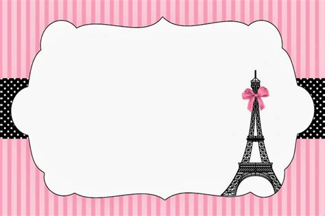 28 paris themed invitations template paris themed