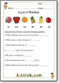 grade 1 logical thinking worksheets maths exercise worksheets