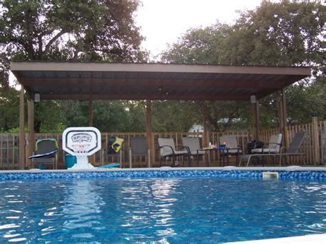 Pool Awnings by Metal Carport Awning Patio Cover Swimming Pool South Bexar
