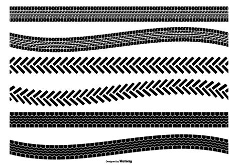 tire track vector shape set   vector art stock graphics images