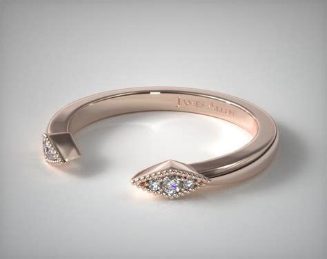 wedding rings, womens stackable, 14k white gold open