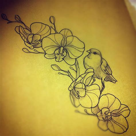 orchid tattoo images amp designs