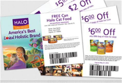 dog food coupons mailed free can of halo cat food sweetfreestuff com
