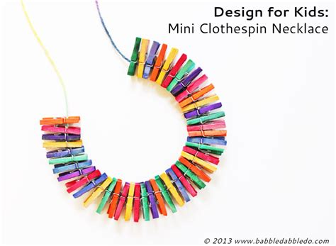 mini craft projects diy jewelry mini clothespin necklace babble dabble do