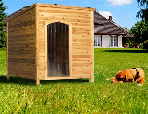 large outdoor kennel large wooden outdoor pet kennel house home garden shelter 91x127x101cm ebay