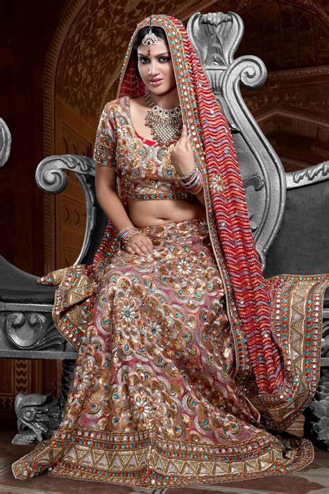 indian bridal wedding lehenga choli style sarees designs of sarees bridal multicolor lehenga style saree bridal lehenga