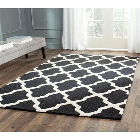 Safavieh Cambridge Black Area Rug Safavieh Cambridge Black Ivory 5 Ft X 8 Ft Area Rug