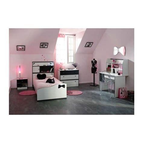 Chambre Fille Avec Bureau Disco Noire Et Blanche Achat Set De Bureau Fille