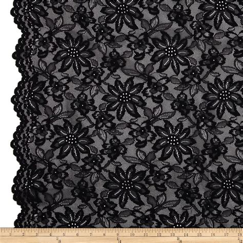 Laces Black by Telio Izabel Lace Black Discount Designer Fabric