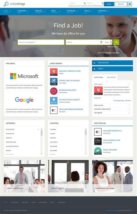 bootstrap templates for job portal free download jm job listings for joomla 3 x the joomla template based