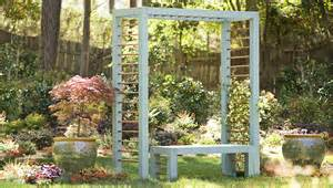 Bench With Trellis Diy Arbor And Bench