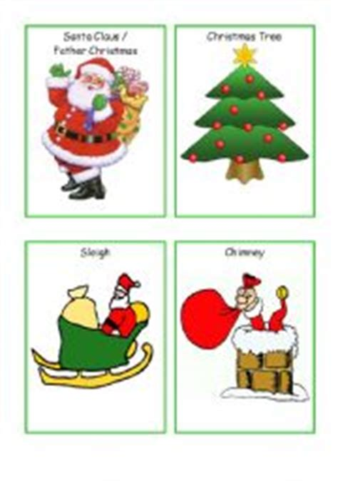 printable christmas flashcards english worksheets christmas flashcards set of 24