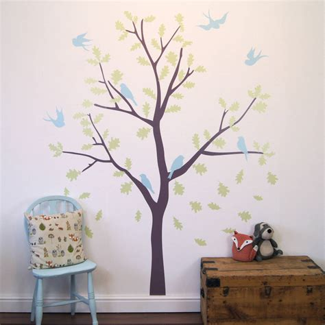 bird and tree wall stickers bird tree wall stickers by parkins interiors notonthehighstreet