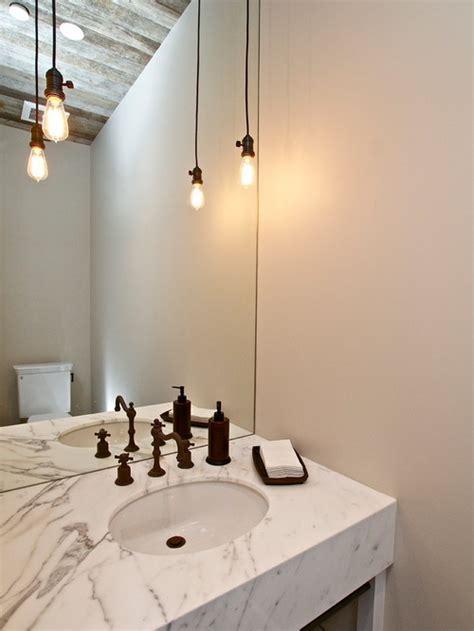 pendant lighting for bathroom arredare con le ladine a vista arredamento