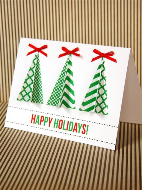 Tree Handmade Cards - handmade tree card hgtv