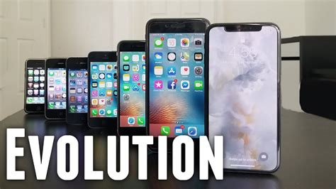 Iphone Evolution by Evolution Of The Iphone 2007 2018