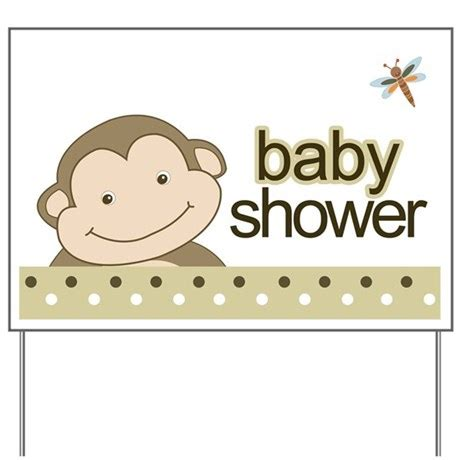 Baby Shower Signs by Baby Shower Yard Sign Monkey Brown By Artbyjessie