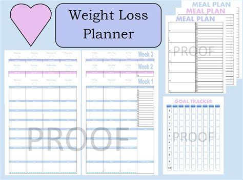 printable meal planner for weight loss 42 best printable planner pages images on pinterest