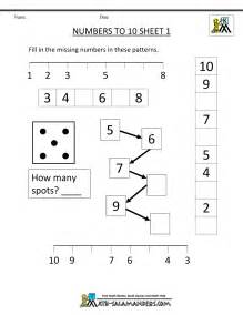 kindergarten number worksheets