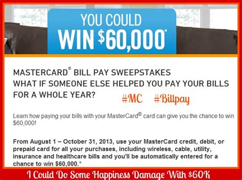 Pay Off My Debt Sweepstakes - life just got easier with mastercard bill pay i could