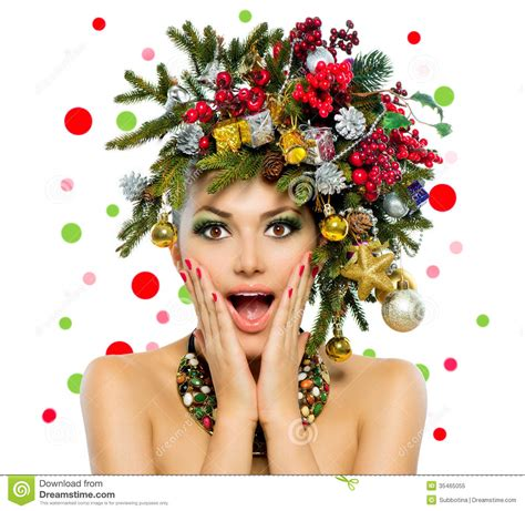 christmas woman stock image image of copyspace