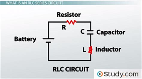 inductance in rlc circuit r l c series circuits lesson transcript study