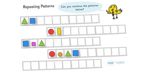 continuing patterns ks1 shape pinterest the world s catalog of ideas