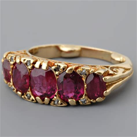 Ruby Corundum 2 70ct fay cullen archives rings antique gold