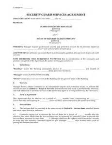 security service contract template free security firm contracts forms and business