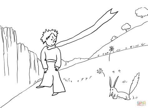 desenho de pequeno pr 237 ncipe encontra a raposa para colorir