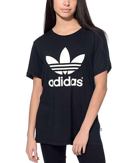 Adidas T Shirt Tshirt Black adidas trefoil black t shirt at zumiez pdp